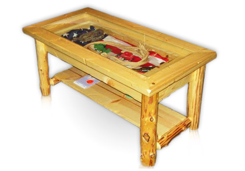 Display Coffee Table Rustic